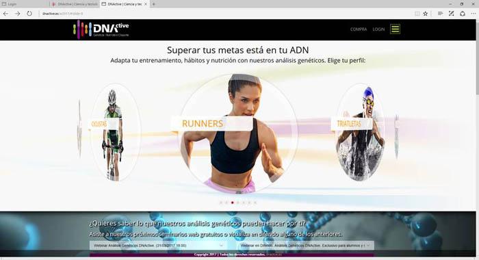 plataforma virtual online donde aparecen los distintos deportes | healthtechspain