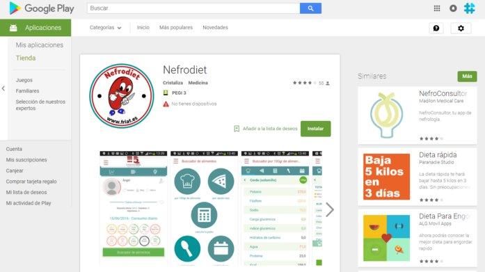 descarga nefrodiet, la app para enfermos renales
