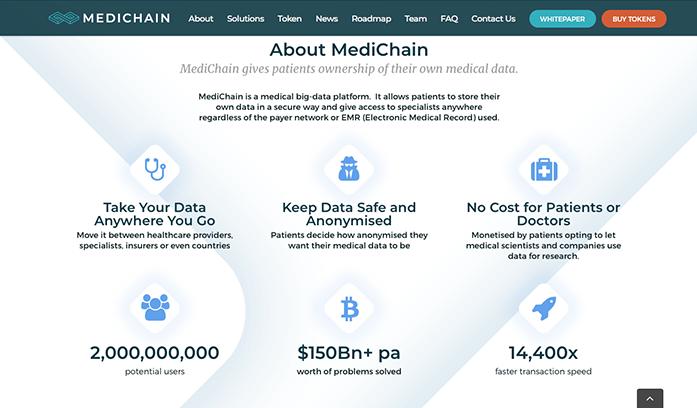 Información sobre Medichain (en inglés)